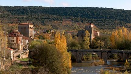 Arlanza river in Covarrubias.