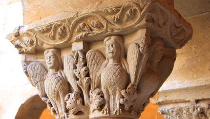 Capitel románico. Santo Domingo de Silos.